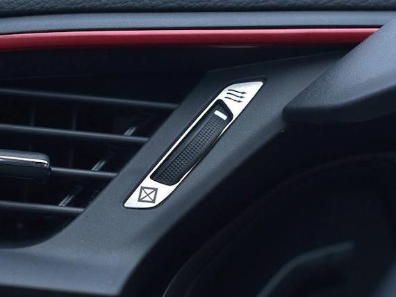 Black 304 Steel Side Air Vent Frame Trim For Honda CIVIC 4 Door 2016 2017 2018