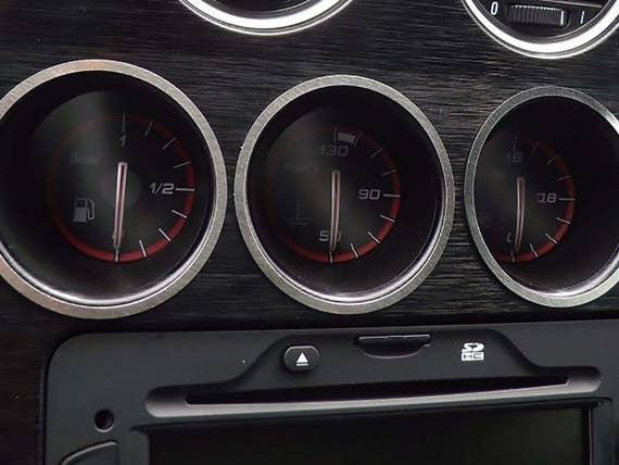 ALFA ROMEO Brera Spider Oil Fuel Clock Gauges Rings Cover Etsy - Alfa romeo spider accessories