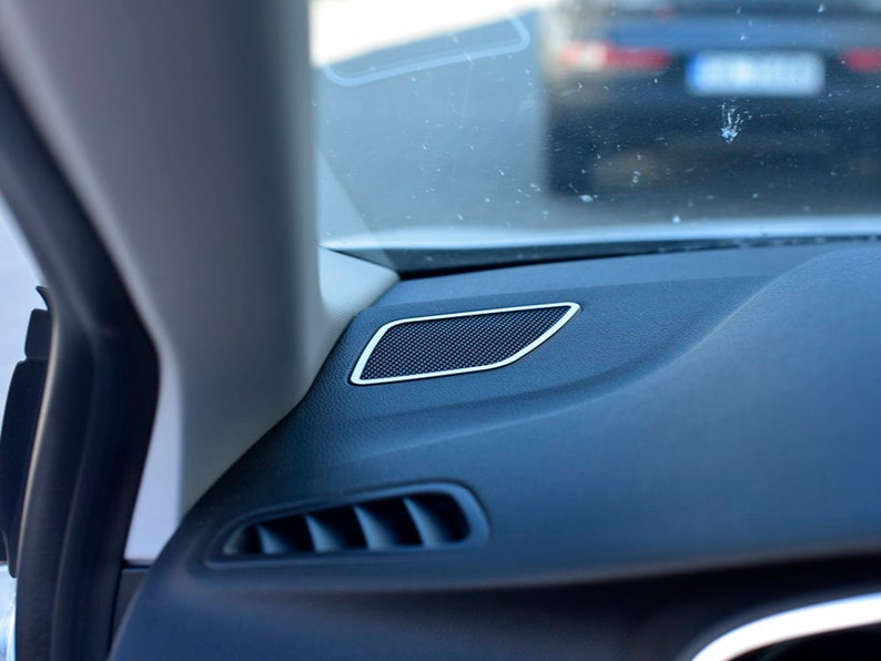 Renault MEGANE IV 4 Mk4 2016+ Tweeter Cover - 2pcs Stainless Steel Rings  Interior Dashboard Dash Trim Kit Car Accessories