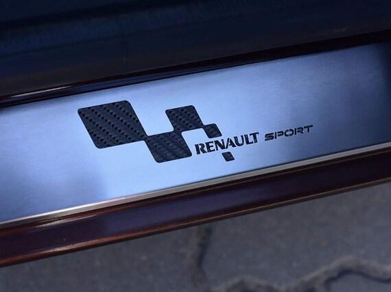 2005-2012 3-door carbon CAR DOOR SILL PROTECTOR for RENAULT CLIO 3 steel