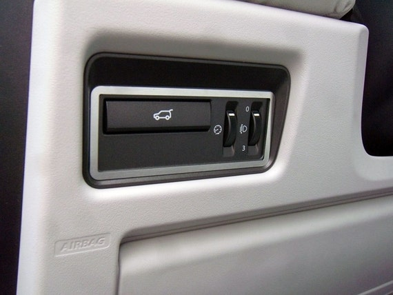 Evoque 2011-2018 Terrain Response Control Cover 1pc Stainless Steel Frame Interior Dashboard Dash Trim Kit Accessories