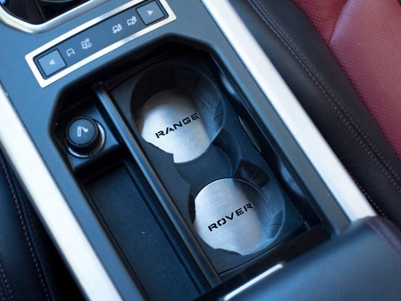 95eeca55408f Range Rover EVOQUE 2011-2018 Cup Holder Emblem Cover 2pcs