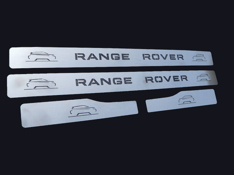 Evoque Range Rover Stainless Steel Door Sill Plates 2011-2018