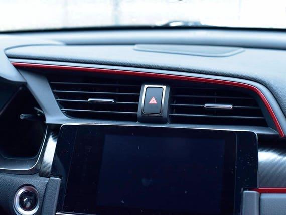 Honda Civic X Type R Fk8 2017 2018 Hazard Lights Button Cover Etsy