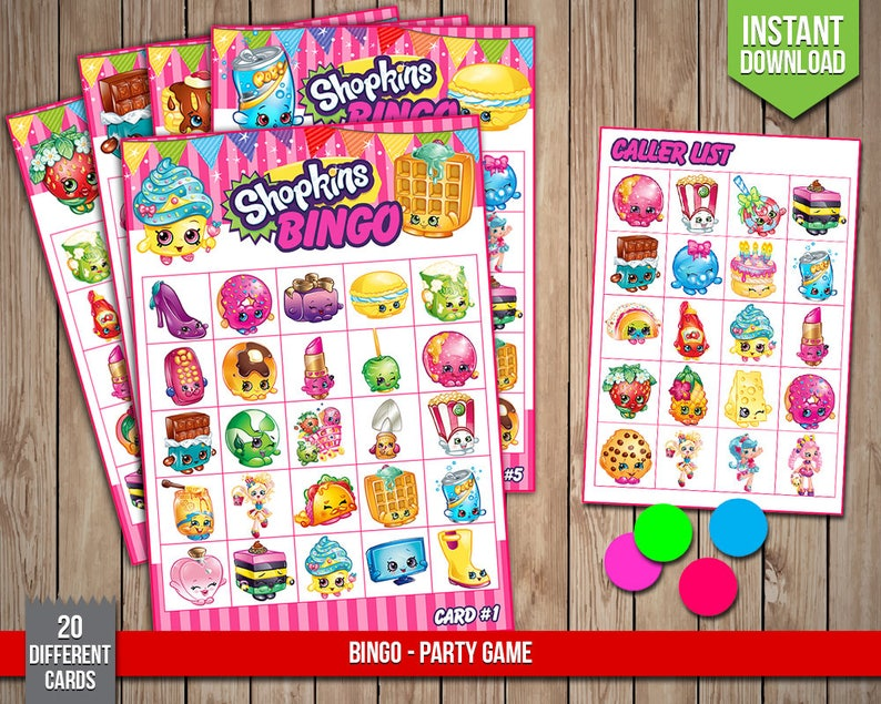 image about Printable Shopkins List known as SHOPKINS Bingo - Occasion Match, Shopkins Birthday Social gathering Game titles, Shoppies Printable Bingo Playing cards - Electronic PDF Data files, Immediate Obtain