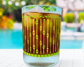 Tikay Bamboo Forest mid-century style cocktail glass