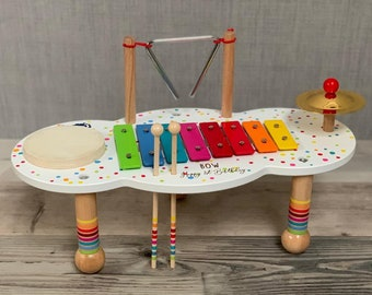 Personalised music table for children - wooden toy - gift for kids - children's toy - Christmas gift
