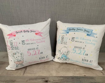Personalized baby gift pillows with letter