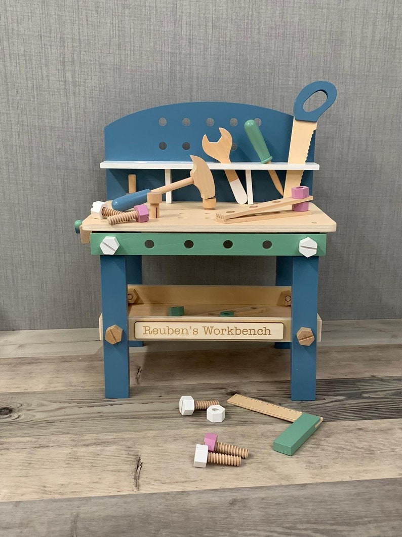 Personalised Unisex Workbench with 21-piece Accessories Set