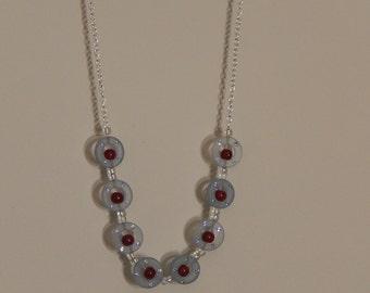 Light blue Swarovski crystal and resin necklace