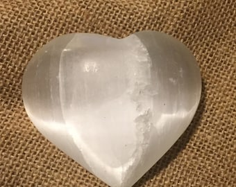 Heart Shaped Clear Crystal Quartz