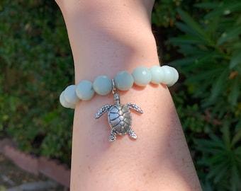 Amazonite Turtle Bracelet