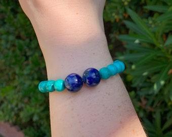 Turquoise & Lapis Lazuli Bracelet