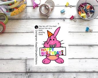 KeepItSimpleStickers Happy Birthday Greeting Card Lil'Bit Sticker