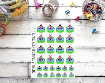 KeepItSimpleStickers REFORMAT Lil'Bit Hand Drawn Baby Pool Planner Stickers
