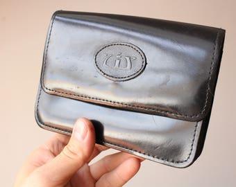 61edfe9a48 Small vintage purse.Black leather Purse.Black wallet.Belt Bag.Bum Bag. Leather shoulder Bag.Structured Purse.Belt Strap Purse.Crossbody Purse