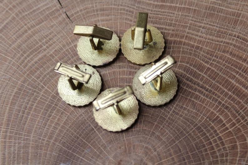 Gold cufflinks Men/'s Christmas Gift Men/'s cufflinks Wedding cufflinks Bestman cufflinks Set 5 Vintage gold metal cufflinks Art Nouveau