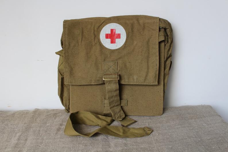 ce7de91777 Vintage medical bag Army First Aid Pack Soviet medic bag