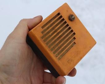 Soviet vintage old radio , USSR 1960-70, Retro Radio Speaker, Collectable radio, Yellow Radio, Vintage Soviet USSR, Mid Century decor
