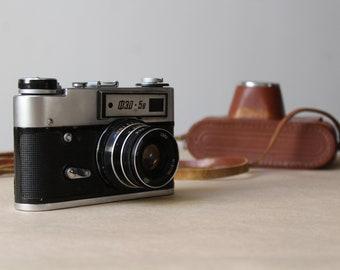 Vintage Camera FED 5B.Vintage Russian FED Camera.35mm Film Camera Russia.Ukrainian Camera.Soviet Union.FED 5B Camera With Original Case.