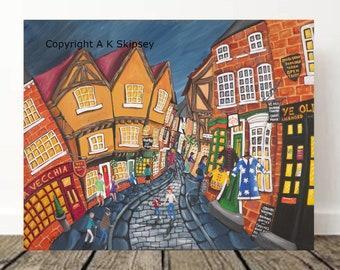 The Shambles York large canvas print