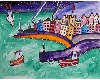 Print bundle, Aberystwyth painting, Rhayader painting