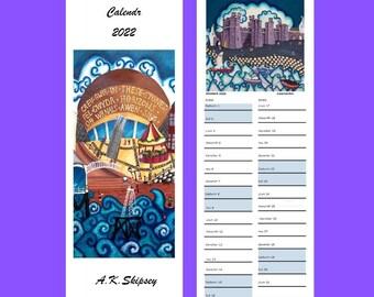 Welsh language prints, downloadable 2022 calendar bundle