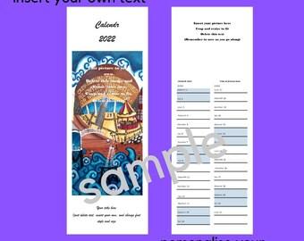Make your own Welsh Calendar, Calendar template, print at home, Welsh language calendr