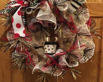 Christmas Presents Deco Mesh Wreath