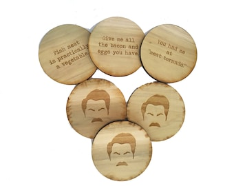 Ron Swanson Coasters