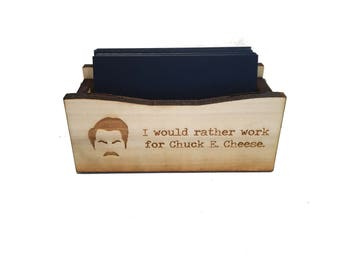 Ron Swanson Business Card Holder