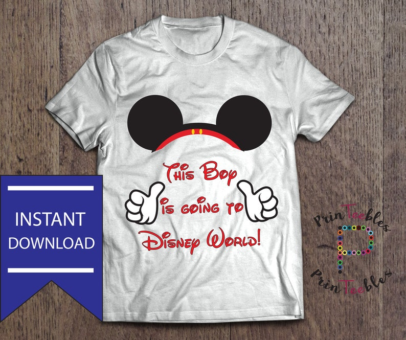 Clothes, Shoes & Accessories Keep Calm Minnie or Mickey Disney land World Iron On T Shirt Transfer Light Only