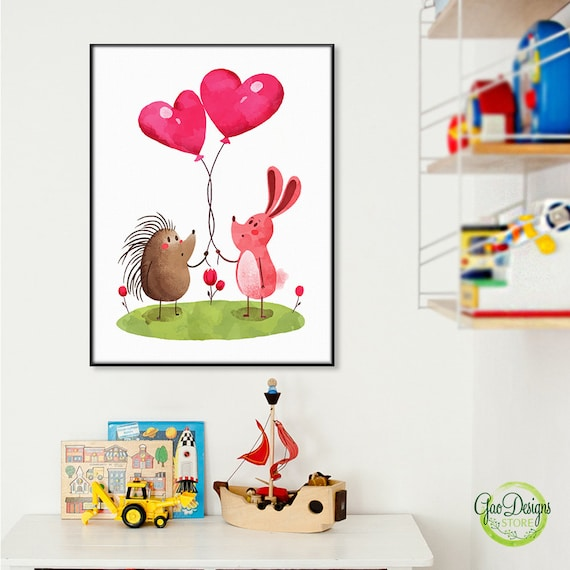 Superior BABY ANIMAL Poster Art Kids Room Posters Baby Bunny Nursery | Etsy