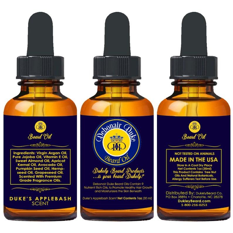 Debonair Duke Customer Choice Pick-4 Combo Beard Oil Set 1 Fl Oz Bottles