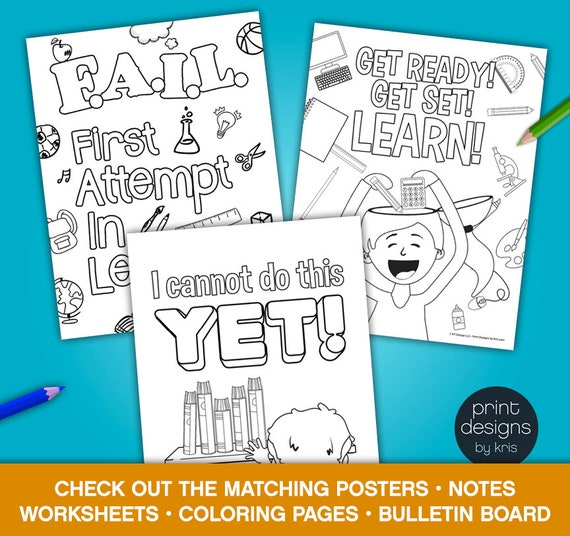 Growth Mindset Coloring Pages Growth Mindset Coloring Pages Growth Mindset Materials Teaching Materials