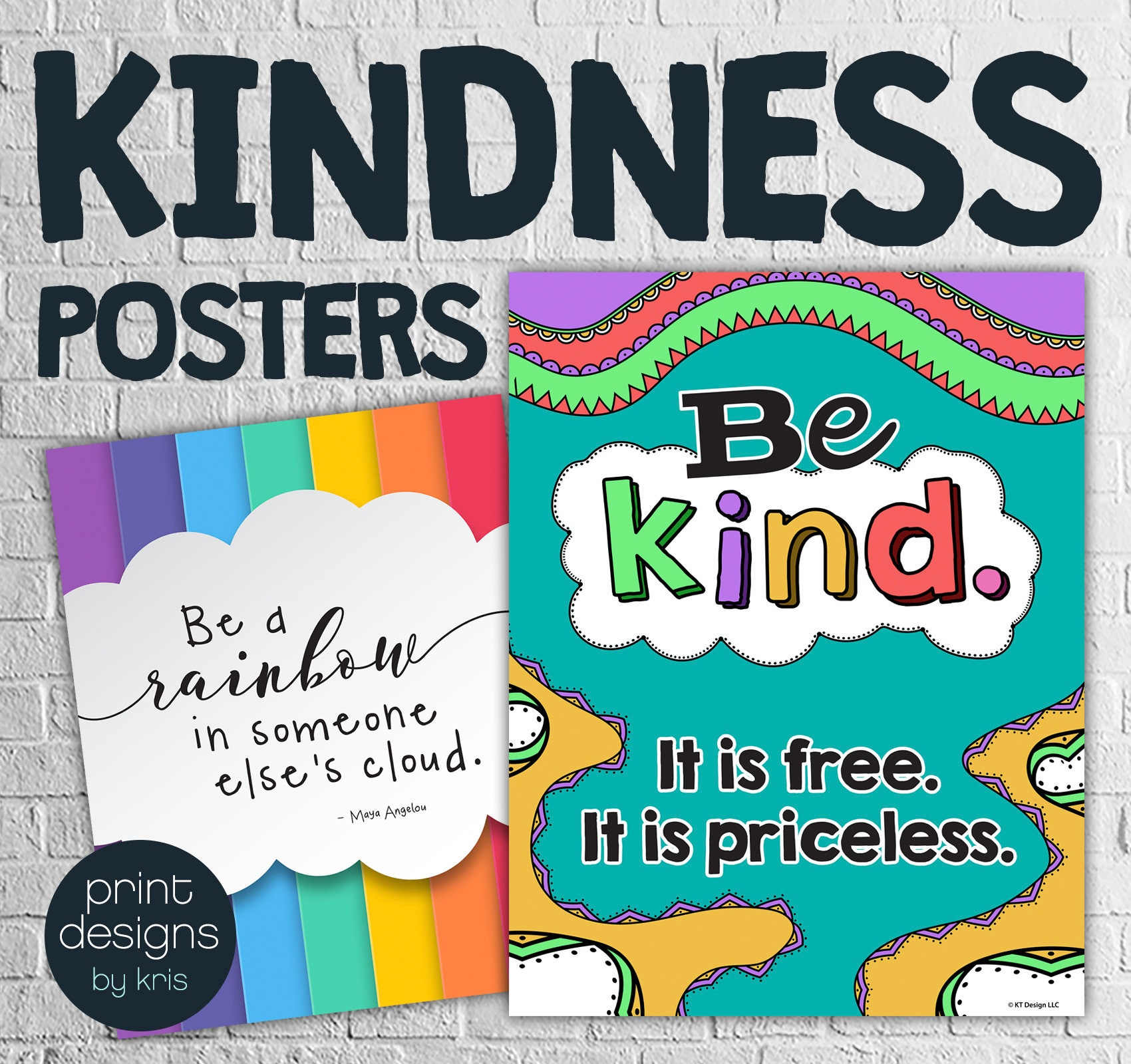 Kindness Posters Classroom Posters Teaching Kindness | Etsy