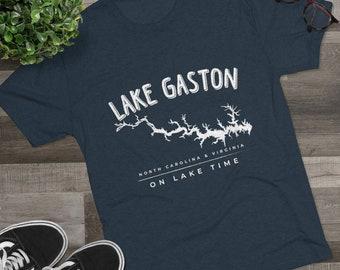 Lake Gaston Men's Tri-Blend Crew Tee