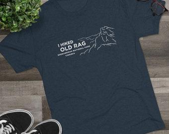 I Hiked Old Rag Shenandoah National Park Virginia Men's Tri-Blend Crew Tee Shirt