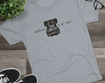 Backpacking Adventure Is Out There Men's Tri-Blend Crew Tee