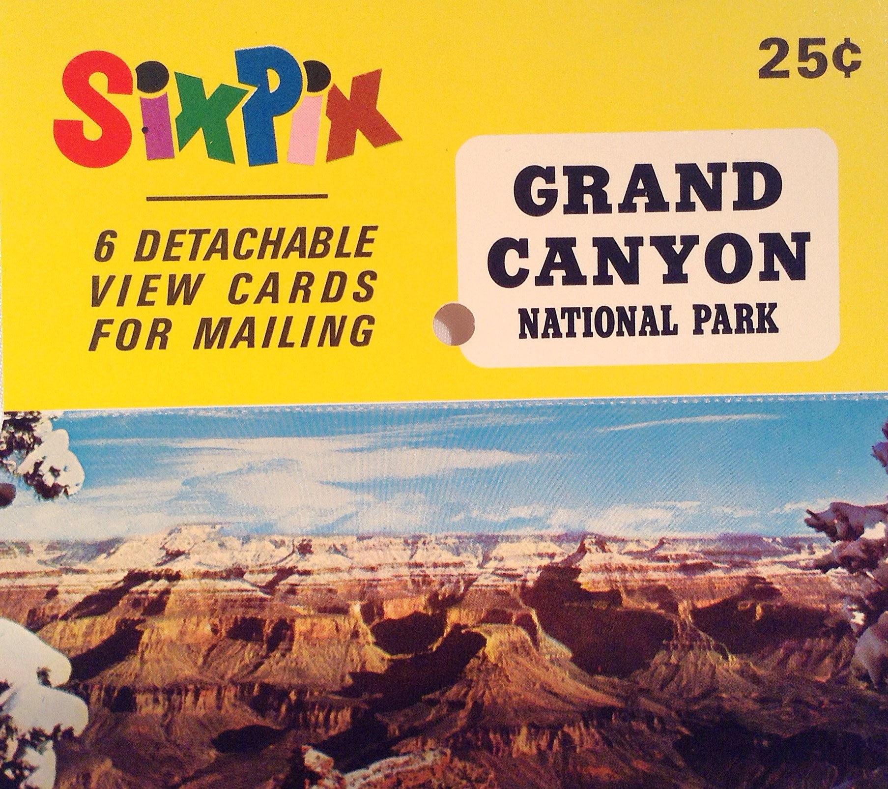 Vintage 70s SixPix Grand Canyon National Park Postcards SP-65 | Etsy