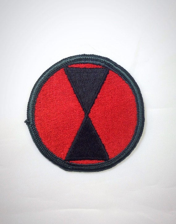 Vintage 7th Infantry Division Embroidered Military Patch 7c98a303a1d