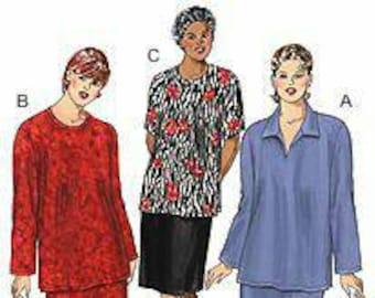 Kwik Sew 3137 Ladies Plus 1x-4x Skirts and Tops.  New in Envelope