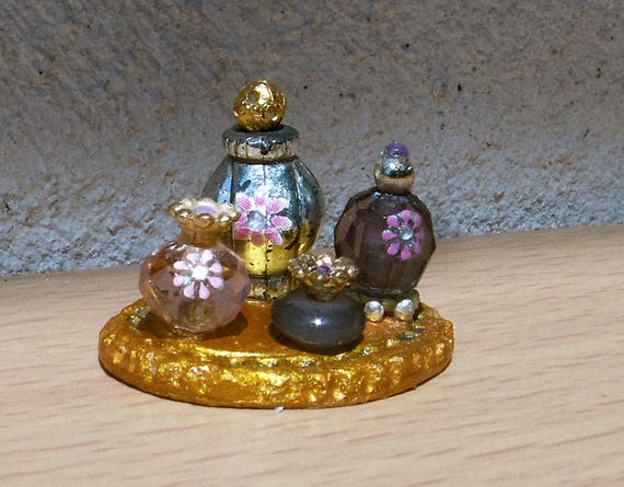 Miniature Dollhouse Perfume Bottles Dollhouse Accessories Etsy