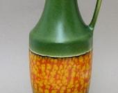 Dumler und Breiden West Germany vase model 347 in green with orange