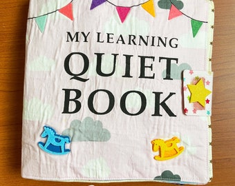 Missbanana Doodle l My learning felt quiet book for children l Educational soft book for preschoolers