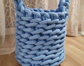 Chunky knit basket for toys