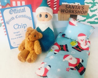 Baby Elf Doll Chip The Shelf Sitter With Mini Accessories