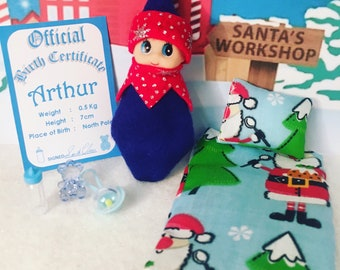 Baby Elf Doll Arthur The Shelf Sitter With Accessories