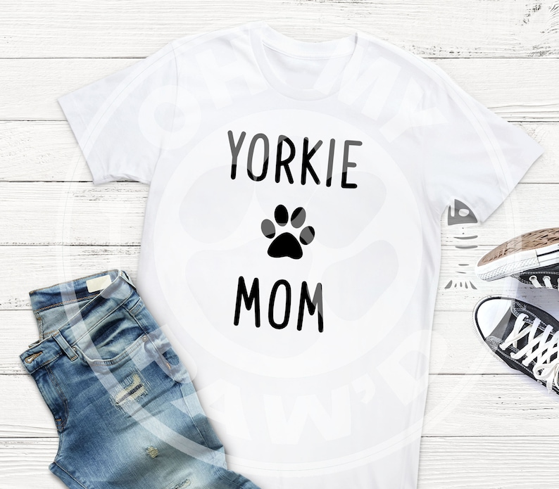 Yorkie Mom Dog Svg Dxf Eps Cut File Transparent Png Cutting Etsy