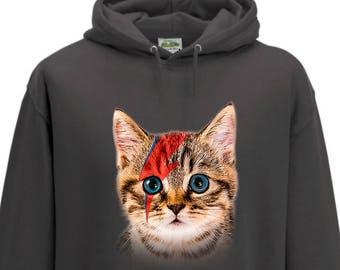 David Bowie Cat - Ziggy Stardust Hoodie